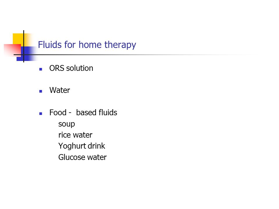 Fluids for home therapy