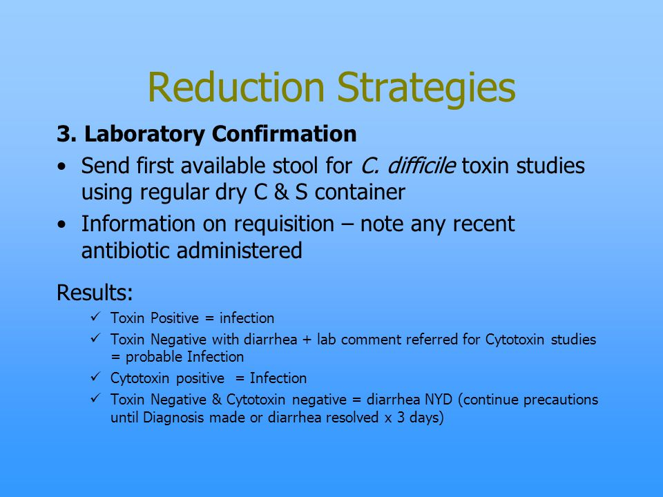 Reduction Strategies 3. Laboratory Confirmation