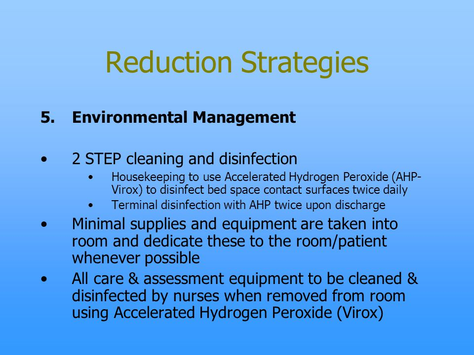 Reduction Strategies Environmental Management