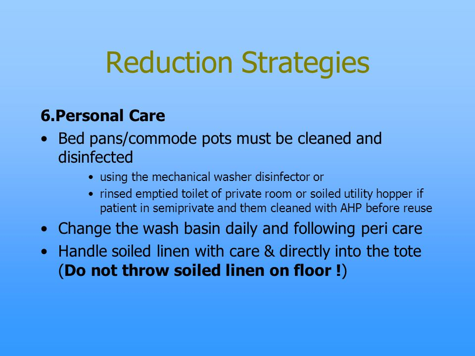 Reduction Strategies 6.Personal Care
