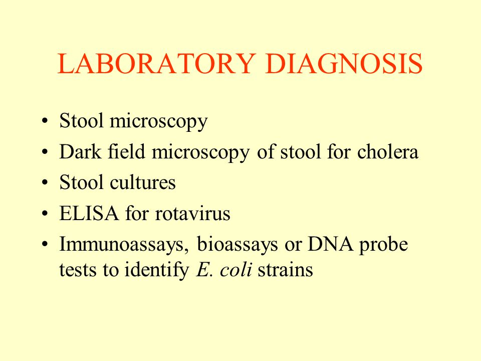 LABORATORY DIAGNOSIS Stool microscopy