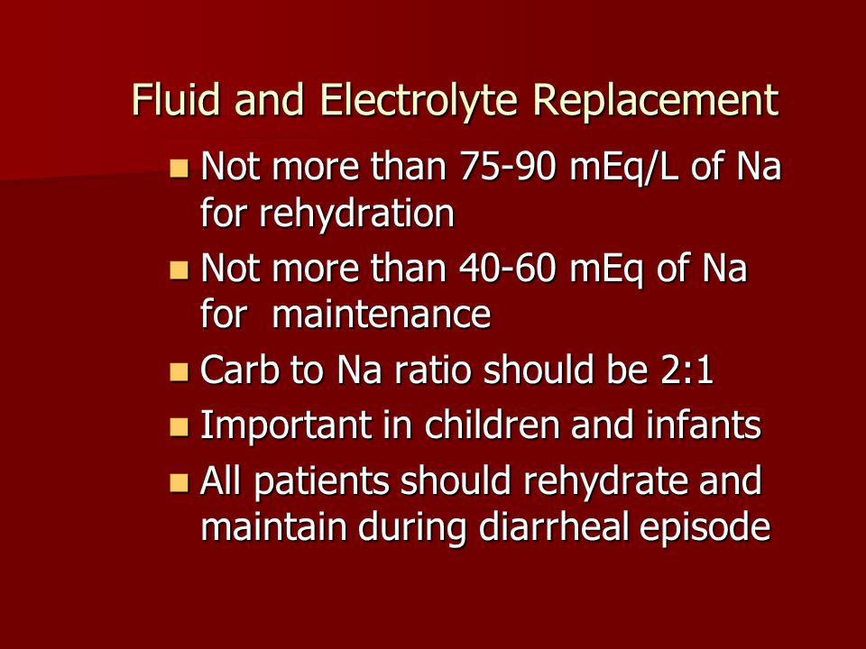 Fluid and Electrolyte Replacement