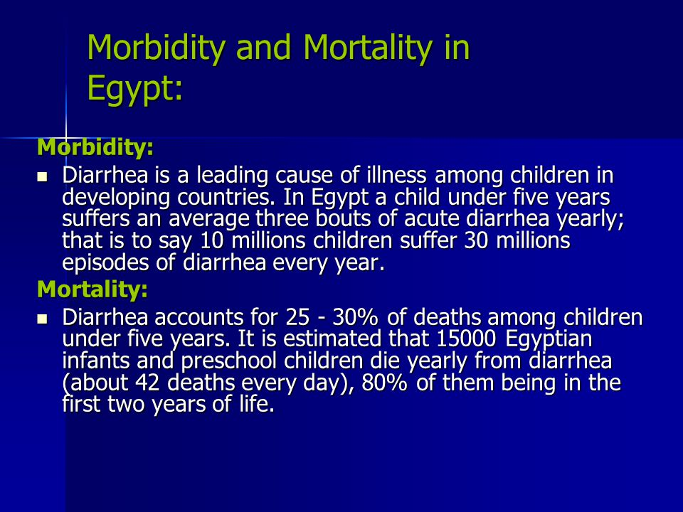 Morbidity and Mortality in Egypt: