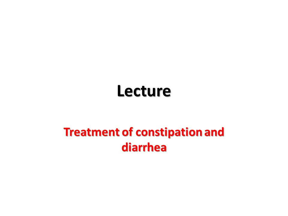Treatment of constipation and diarrhea