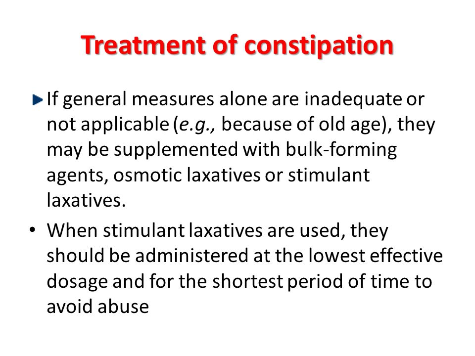 Treatment of constipation