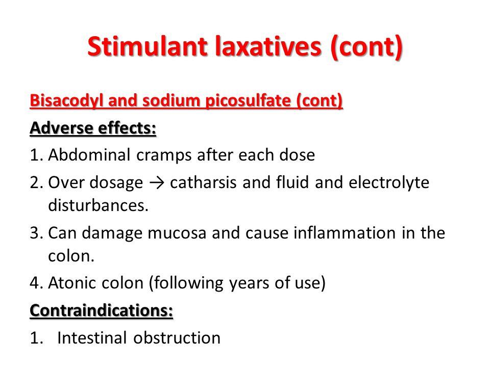 Stimulant laxatives (cont)