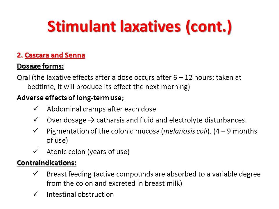 Stimulant laxatives (cont.)