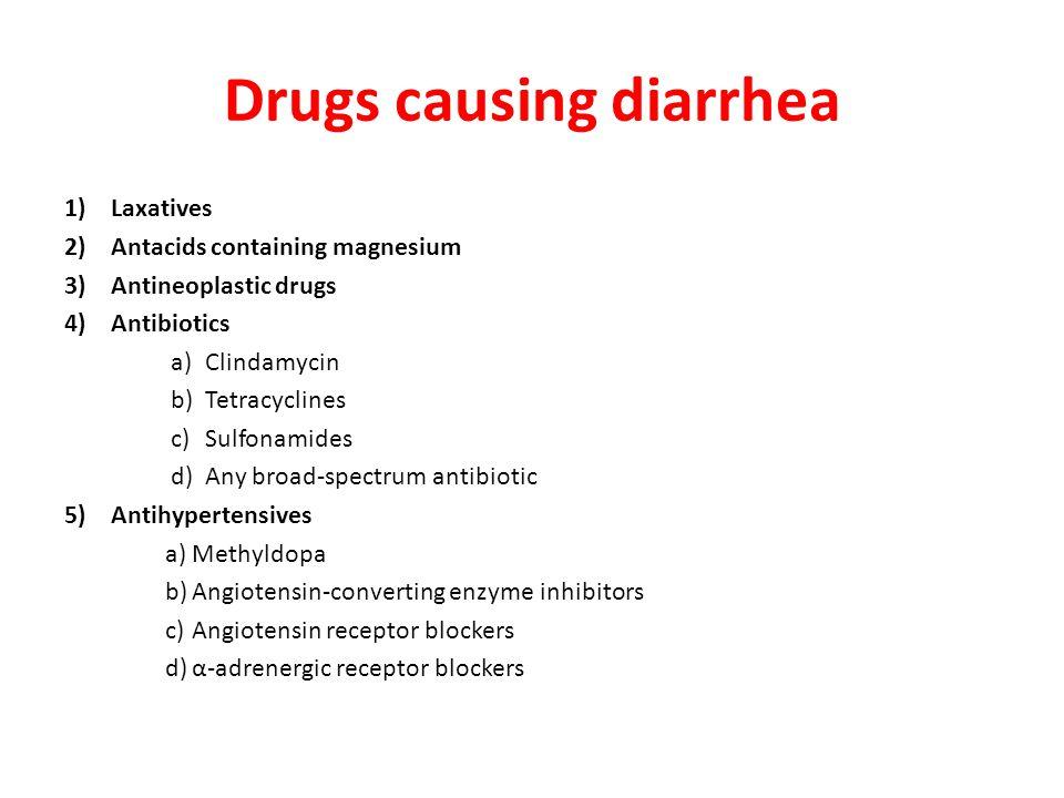 Drugs causing diarrhea