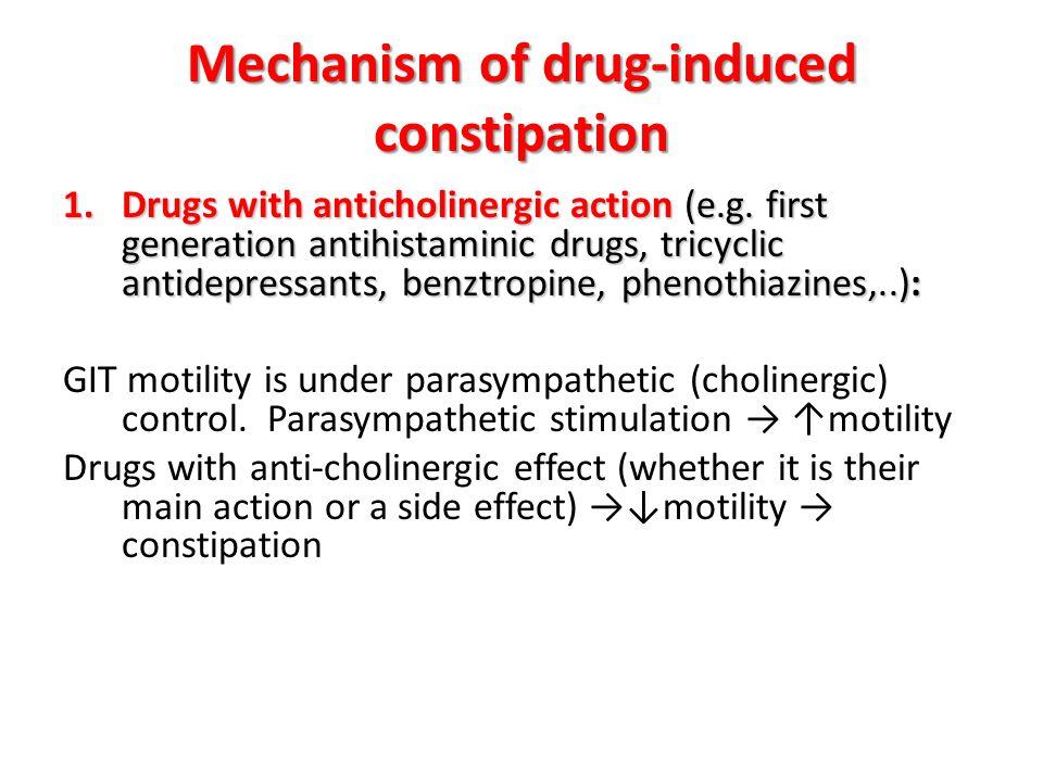 Mechanism of drug-induced constipation