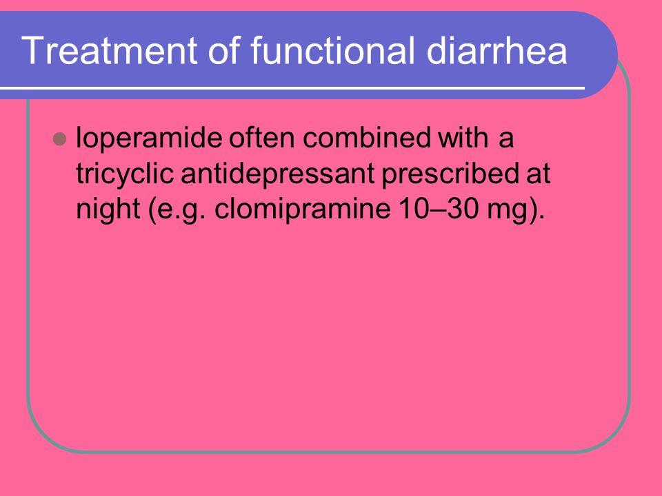 Treatment of functional diarrhea