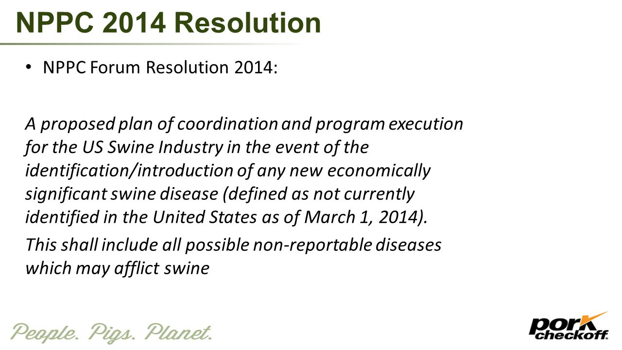 NPPC 2014 Resolution NPPC Forum Resolution 2014: