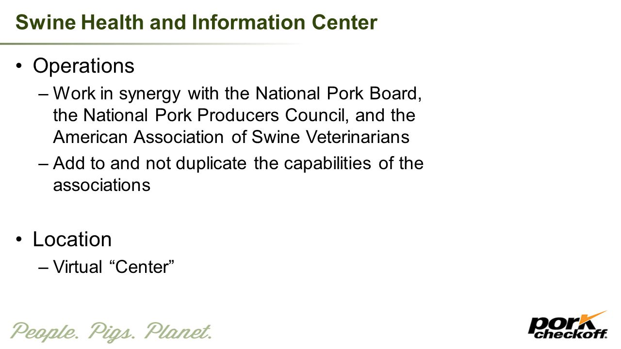 Swine Health and Information Center