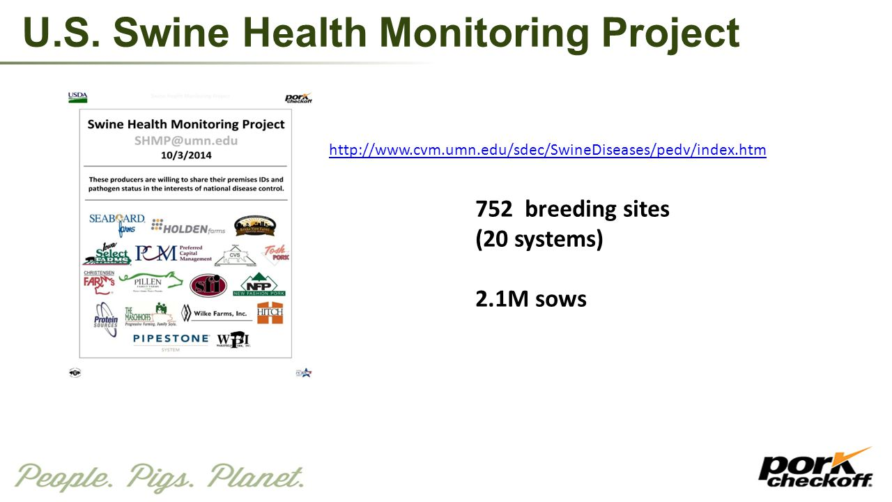 U.S. Swine Health Monitoring Project