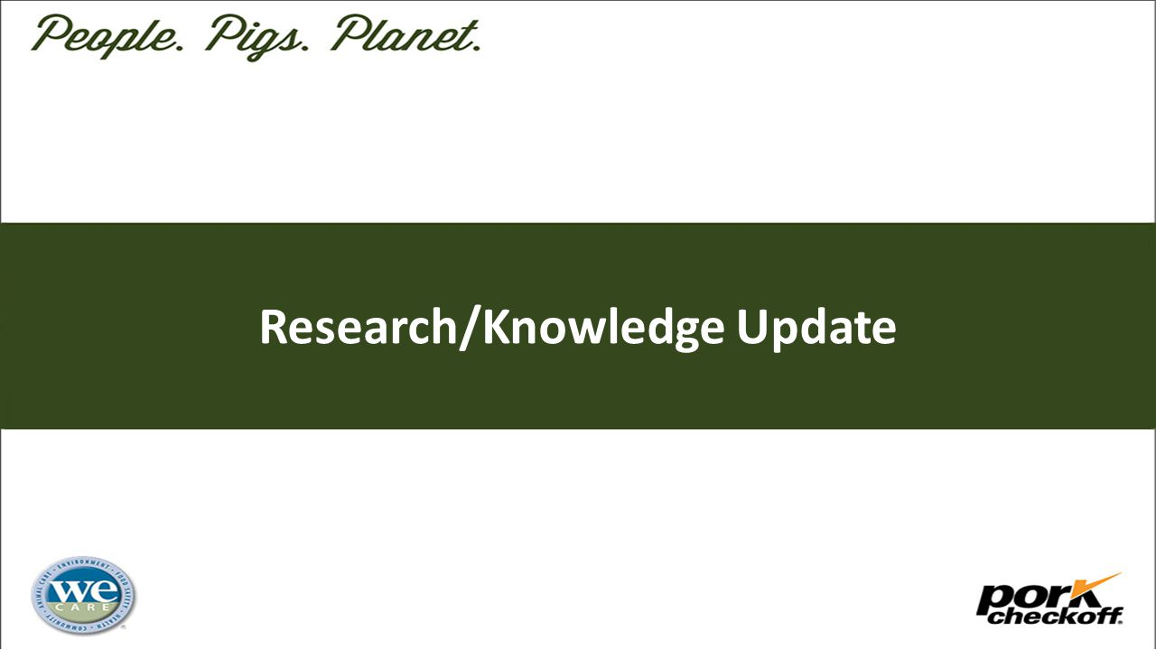 Research/Knowledge Update
