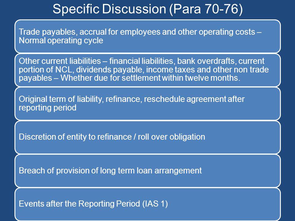 Specific Discussion (Para 70-76)