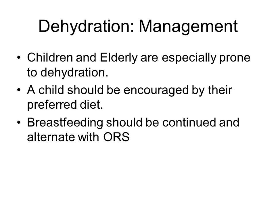 Dehydration: Management