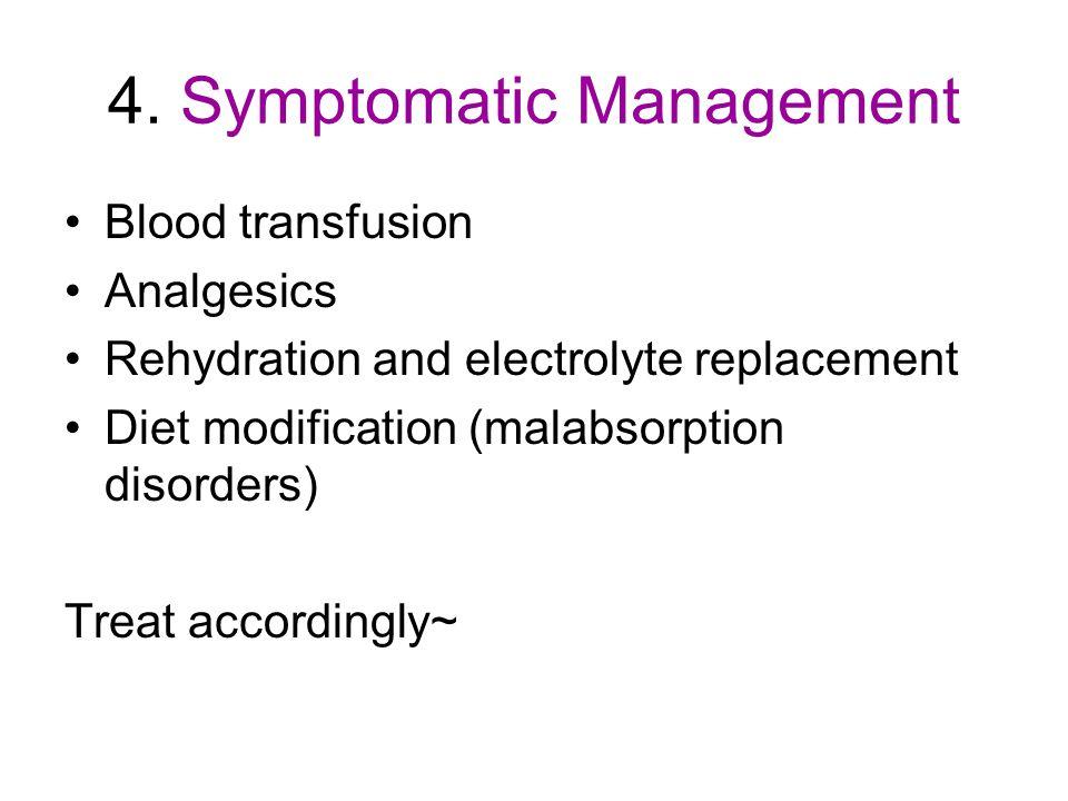 4. Symptomatic Management