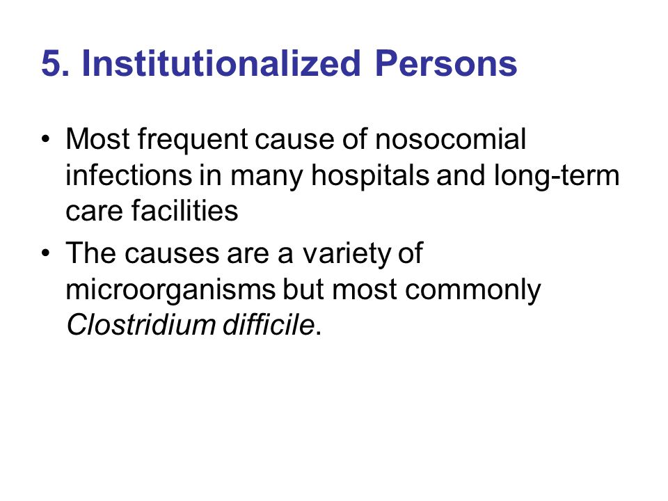 5. Institutionalized Persons