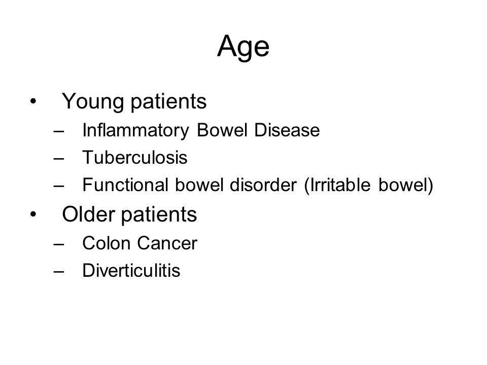 Age Young patients Older patients Inflammatory Bowel Disease