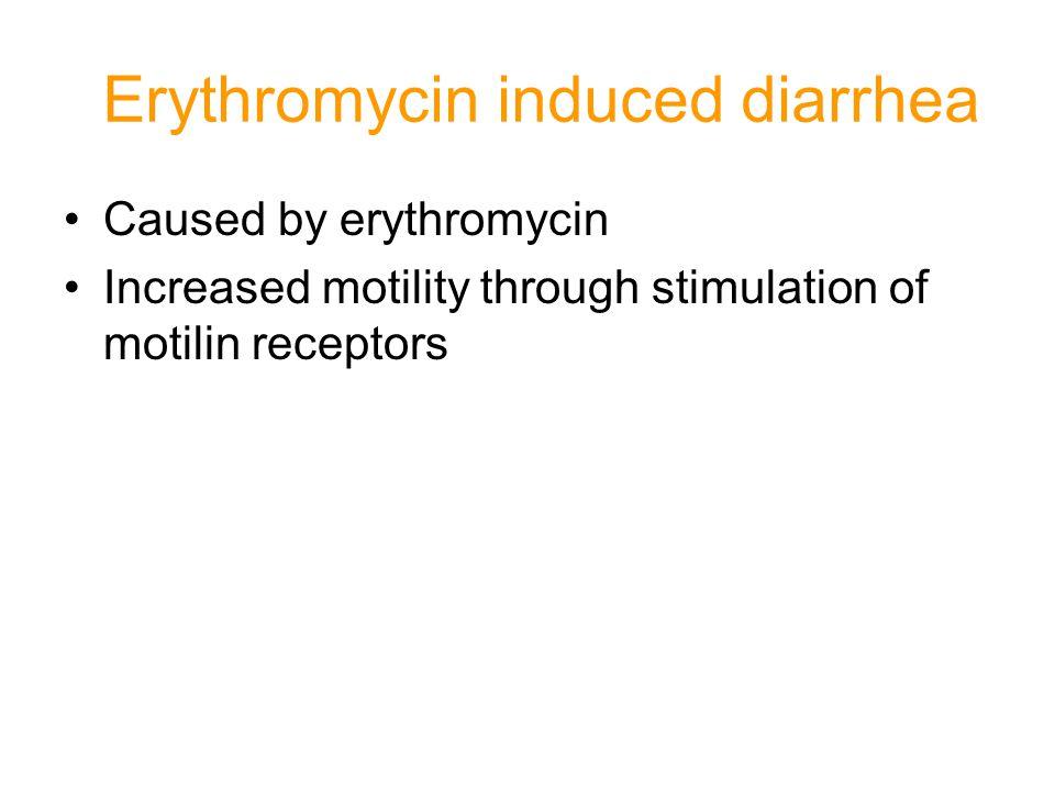 Erythromycin induced diarrhea