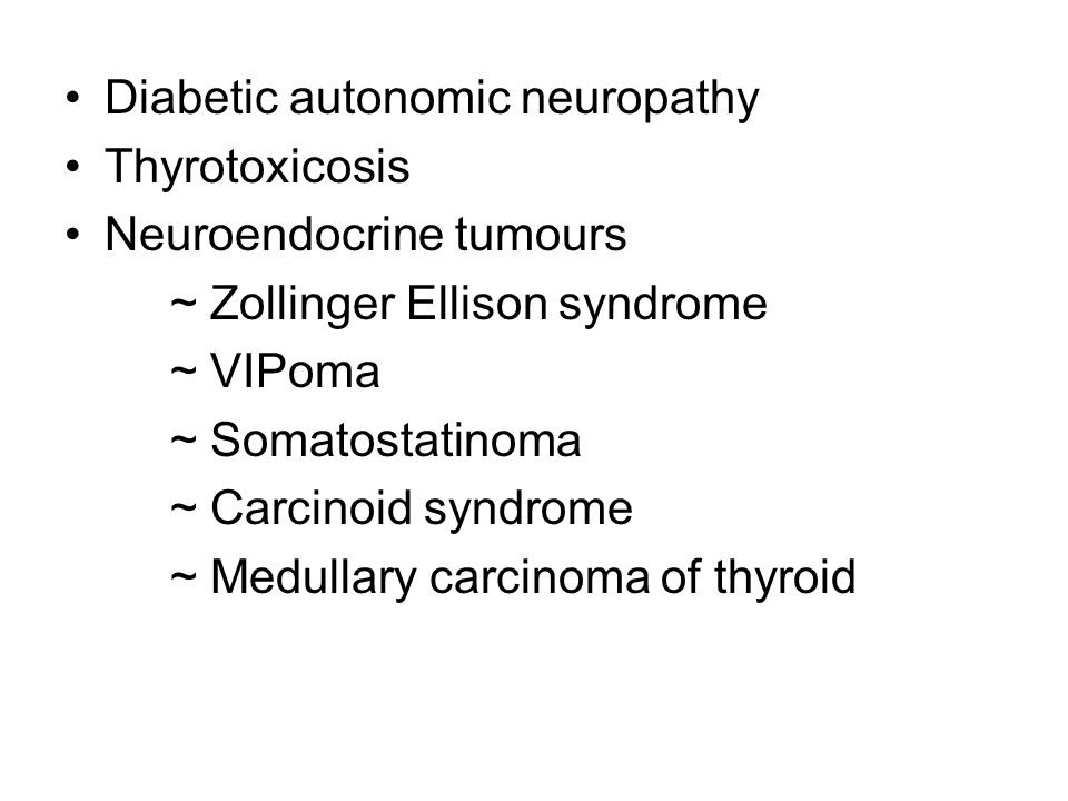 Diabetic autonomic neuropathy
