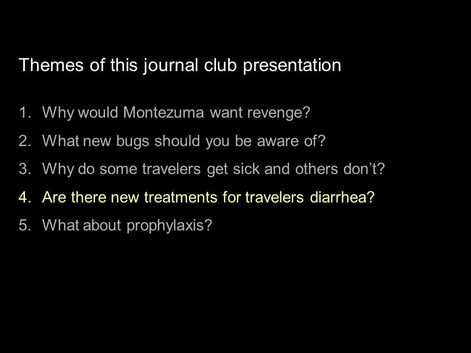 Themes of this journal club presentation