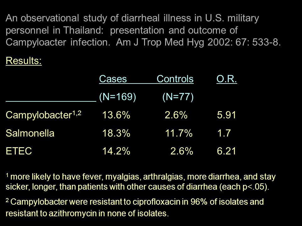 An observational study of diarrheal illness in U. S