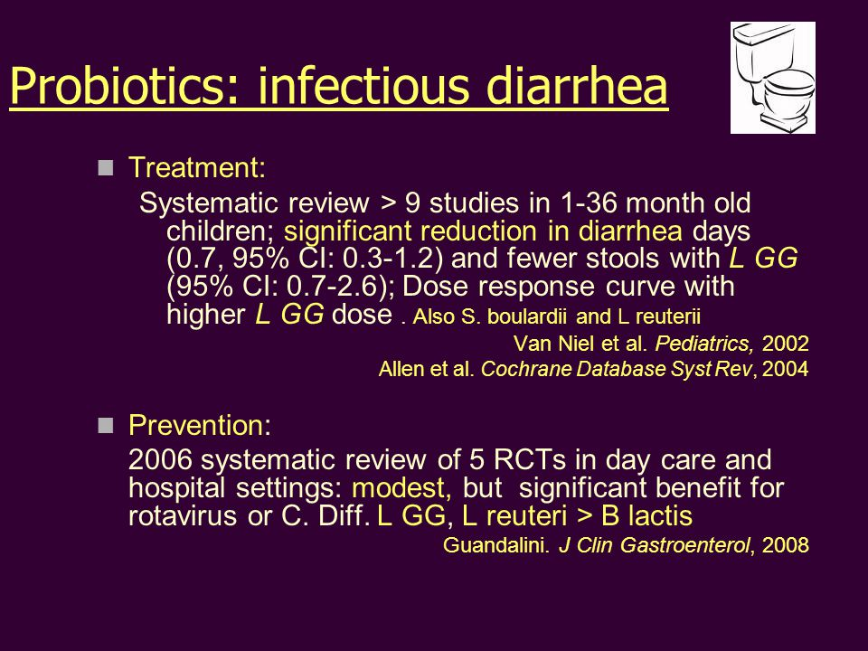 Probiotics: infectious diarrhea