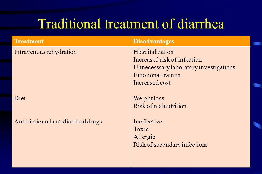 Traditional treatment of diarrhea