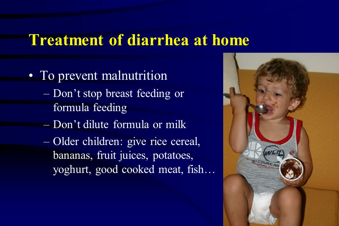 Treatment of diarrhea at home