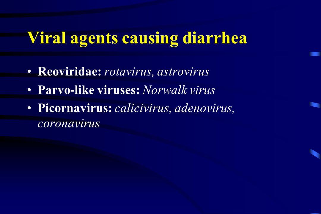 Viral agents causing diarrhea