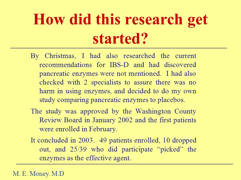 How did this research get started