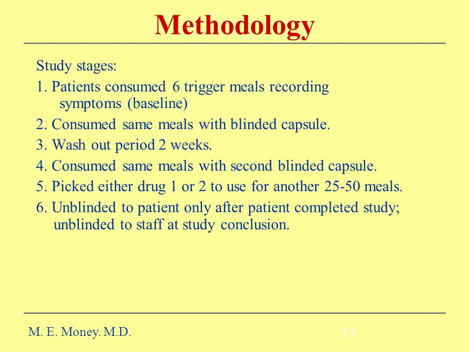 Methodology Study stages: