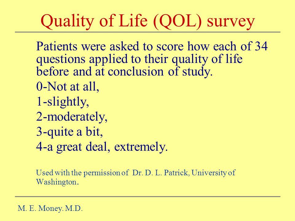 Quality of Life (QOL) survey