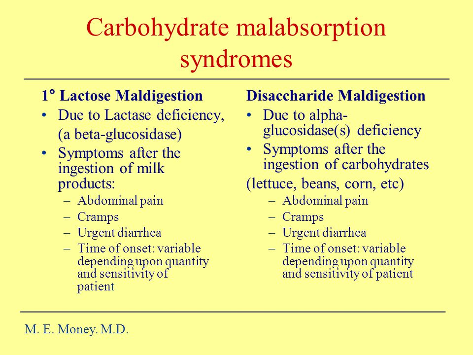 Carbohydrate malabsorption syndromes