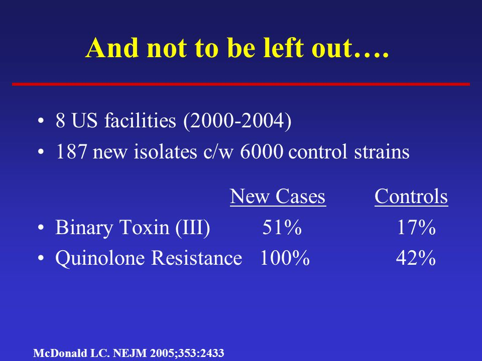 And not to be left out…. 8 US facilities (2000-2004)