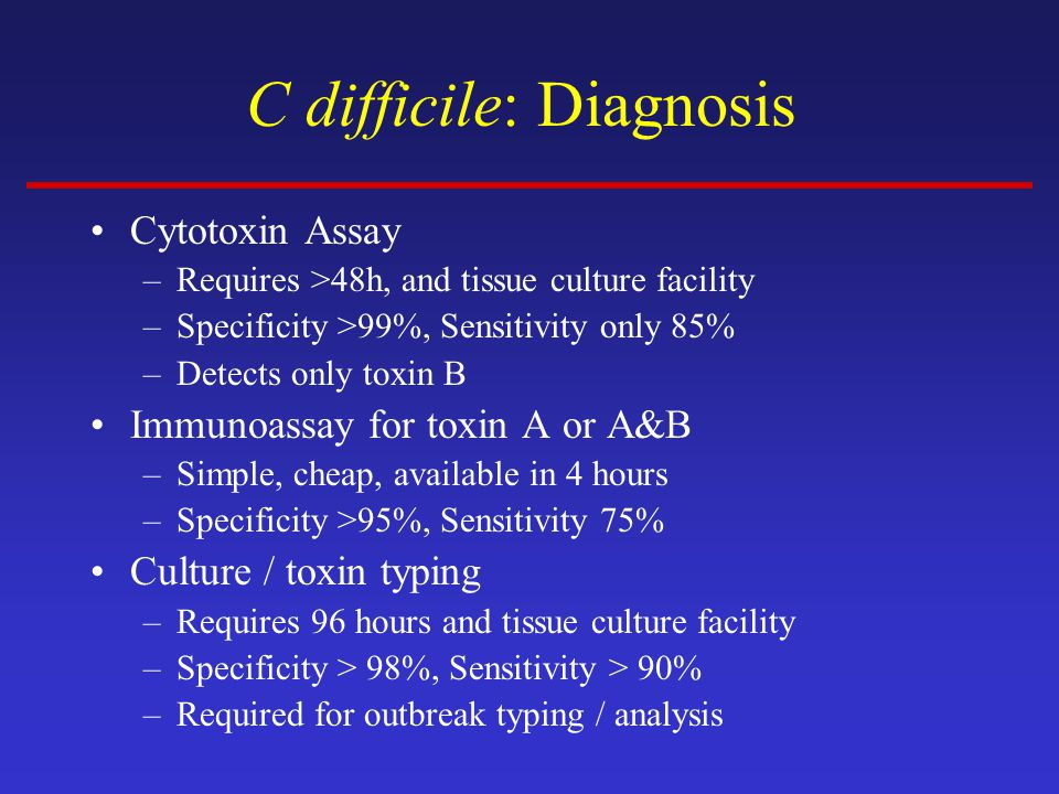 C difficile: Diagnosis