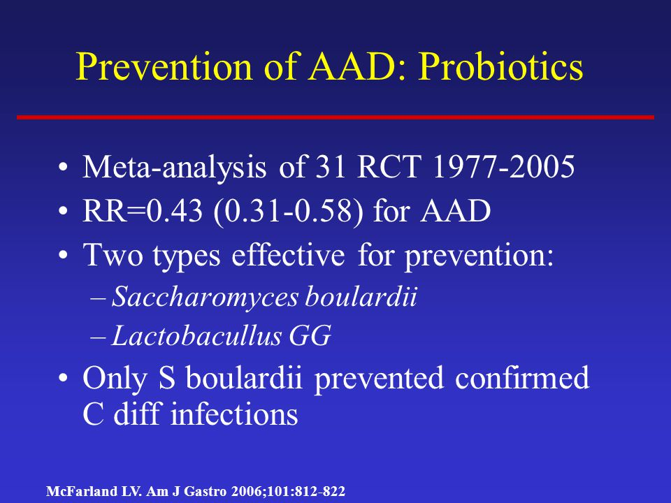 Prevention of AAD: Probiotics