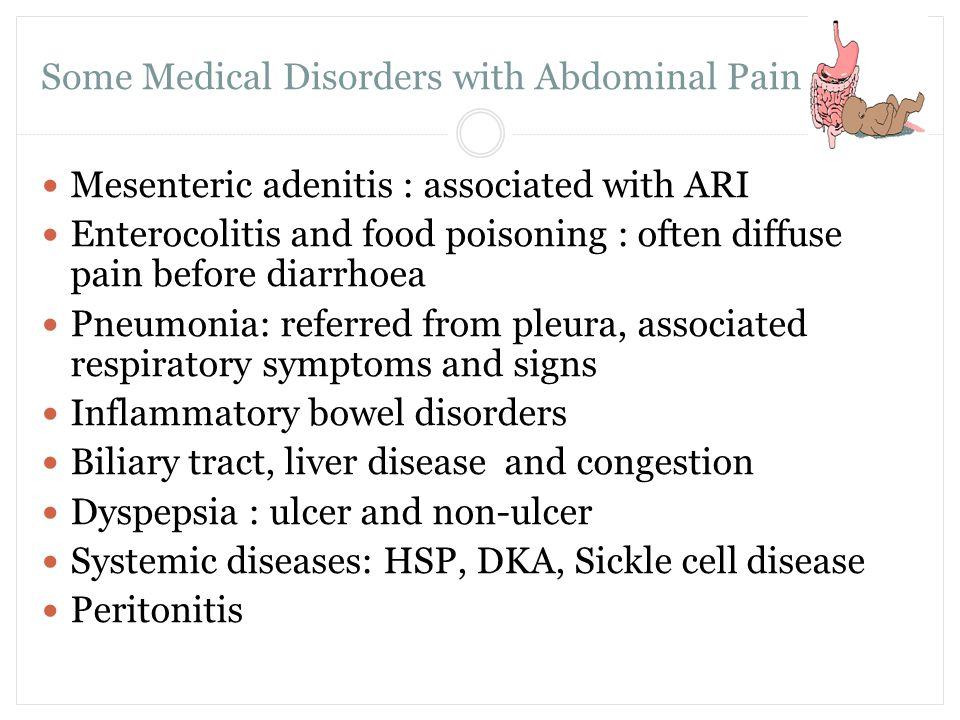 Some Medical Disorders with Abdominal Pain P