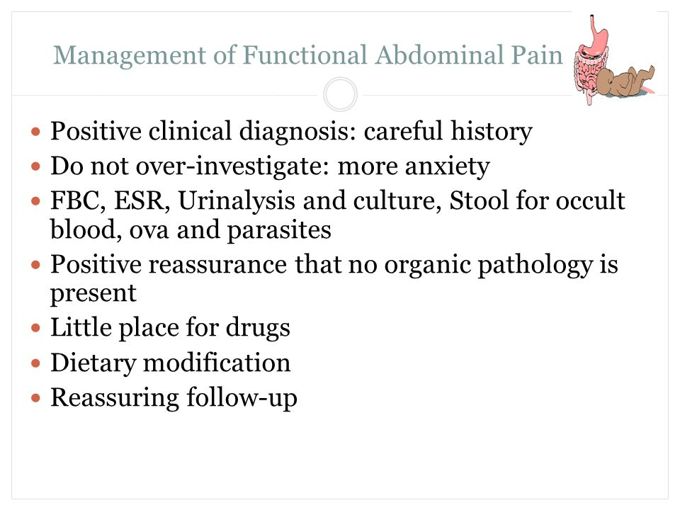 Management of Functional Abdominal Pain