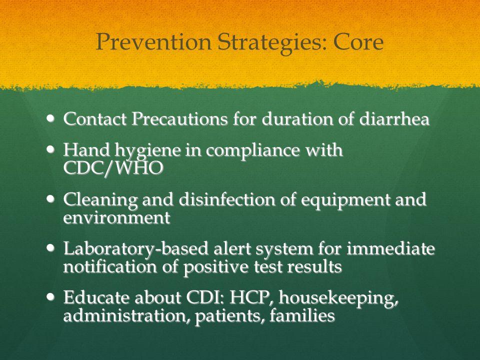 Prevention Strategies: Core