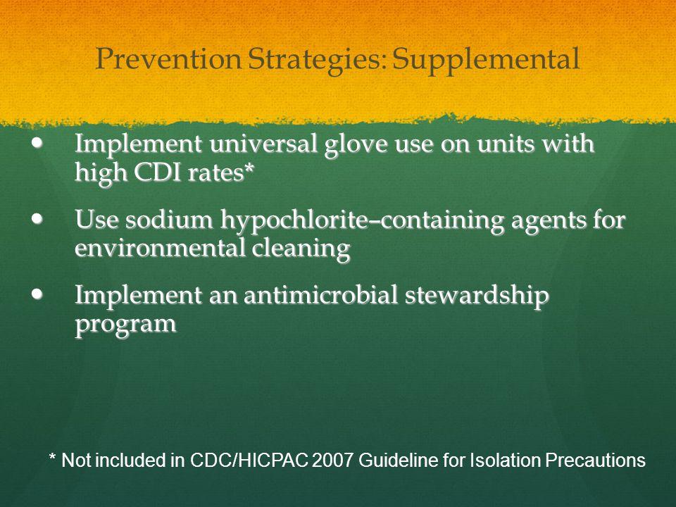 Prevention Strategies: Supplemental