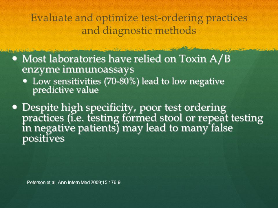 Evaluate and optimize test-ordering practices and diagnostic methods