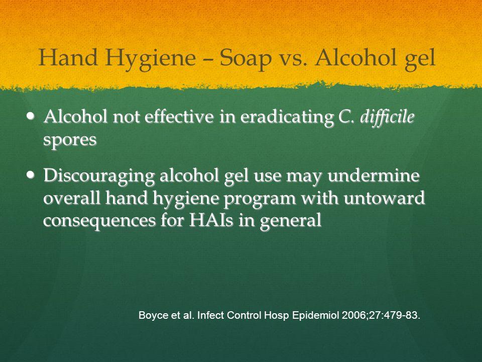 Hand Hygiene – Soap vs. Alcohol gel