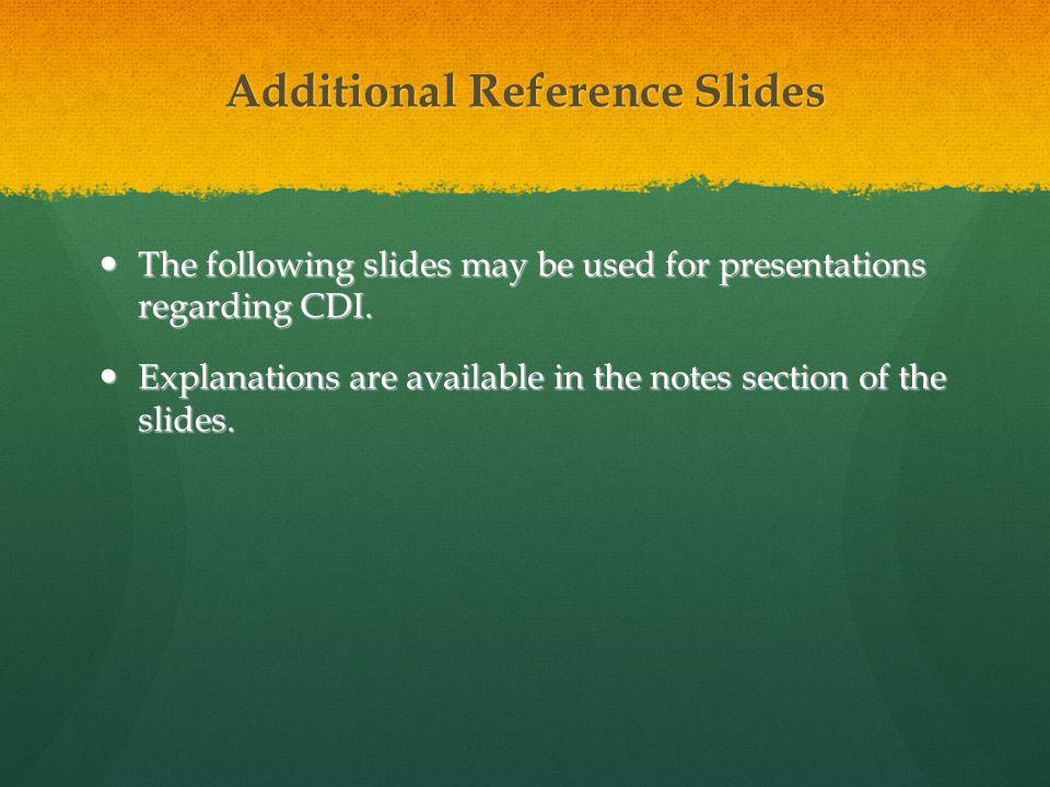 Additional Reference Slides