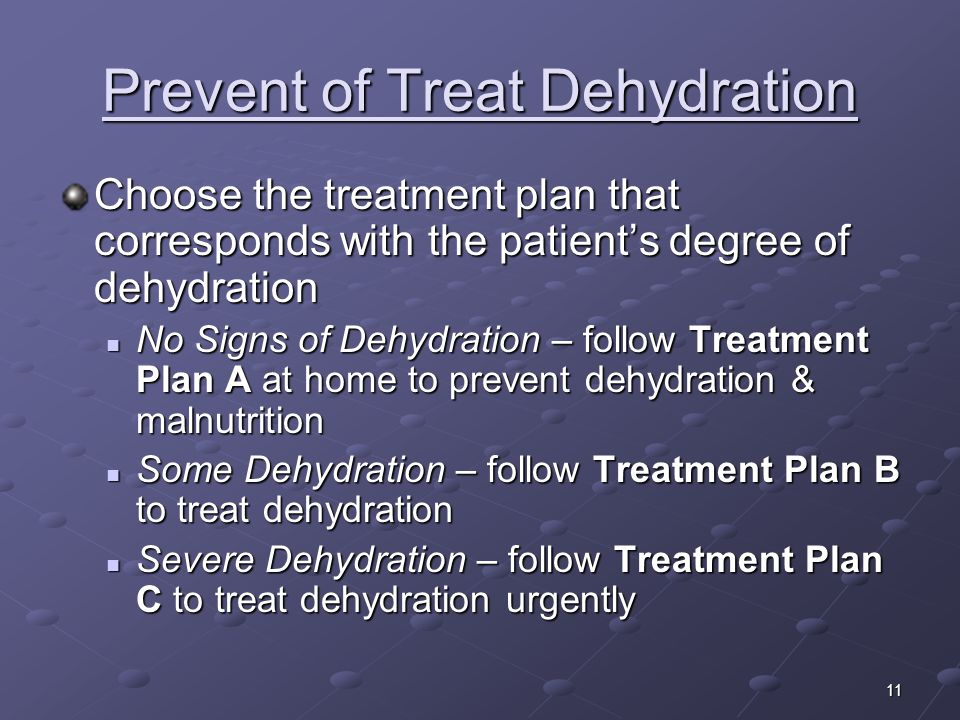 Prevent of Treat Dehydration