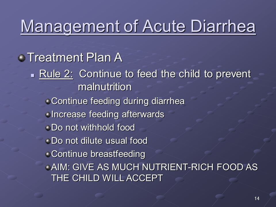 Management of Acute Diarrhea