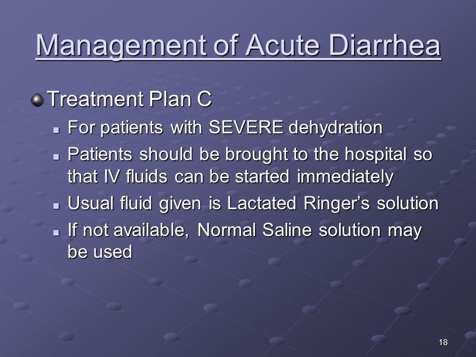 Management of Acute Diarrhea