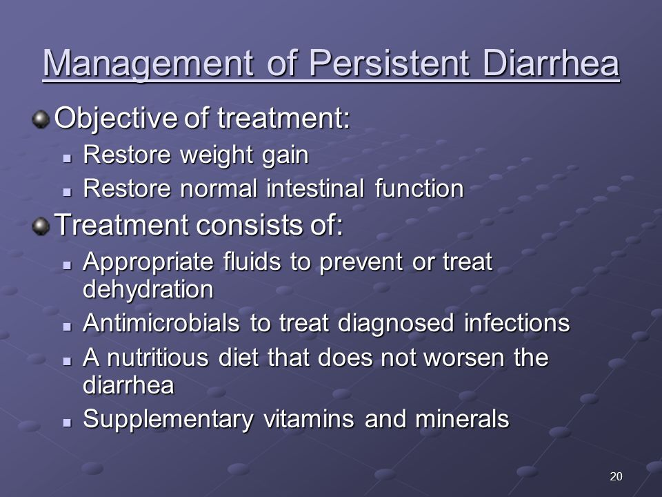 Management of Persistent Diarrhea