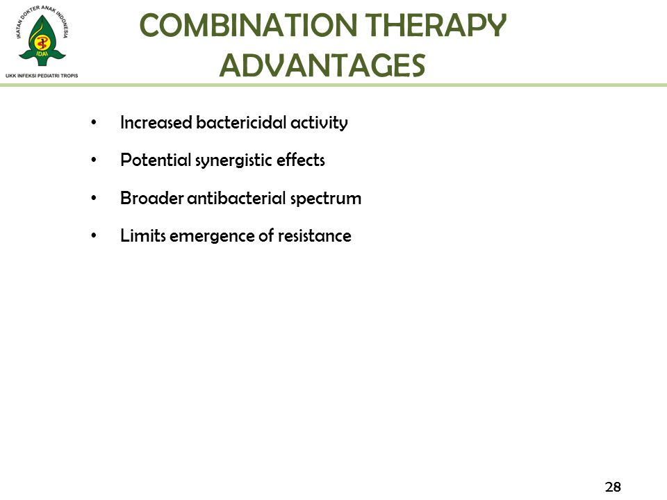 COMBINATION THERAPY ADVANTAGES